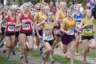 Abby Orvis along with Laura Pedelty, Kailee Malone and Isabel Field race to the team title at Lake City.