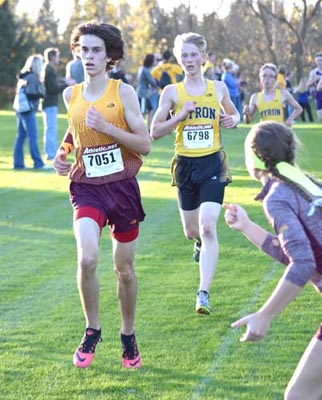 Scott Boelman (7051) earned All-Conference honors at the HVL meet.