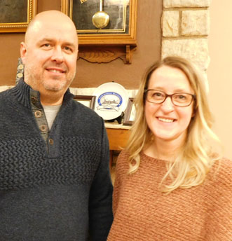 Tim and Tina Fliehr, owners of Star Transportation, the new business in the former Boyums economart building, spoke to the city of Stewartville�s EDA last week, thanking EDA and city officials for  their warm welcome to Stewartville.